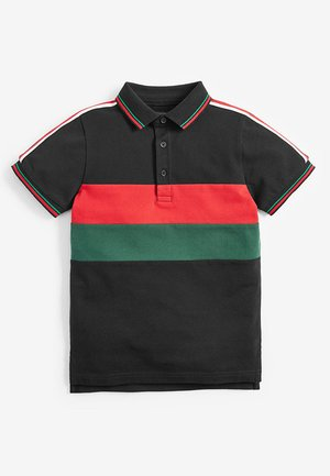 COLOURBLOCK TAPED POLOSHIRT (3-16YRS) - Poloshirt - black