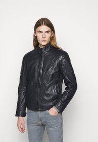 JOOP! Jeans - LIMA - Kožená bunda - dark navy - 0