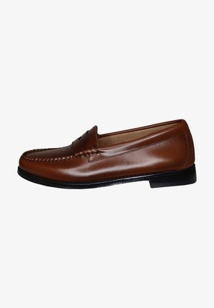WEEJUN PENNY - Slip-ons - cognac leather