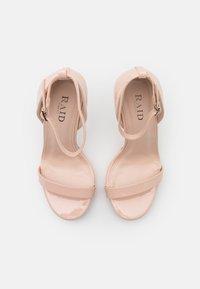RAID Wide Fit - WIDE FIT CRESSIDA - Platform sandals - nude - 5