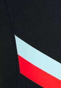 Nike Performance - STRIPE 7/8  PLUS - Leggings - black/chile red - 2