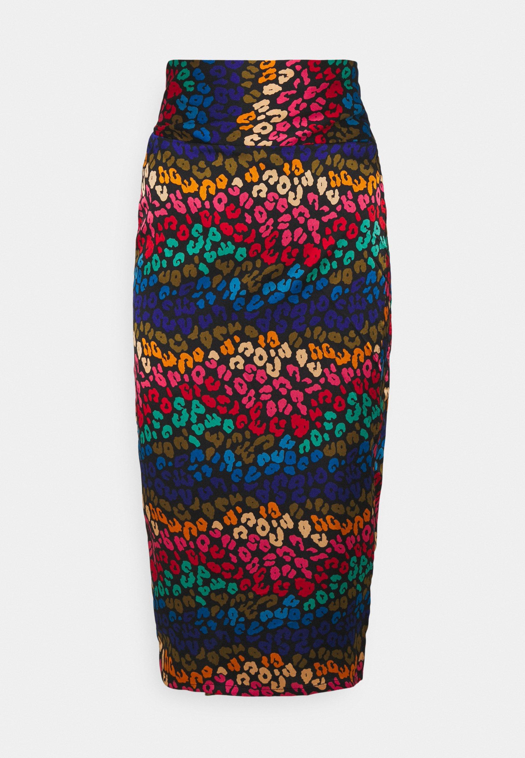 Femme RAINBOW SWIRL JASPRE SKIRT - Jupe crayon
