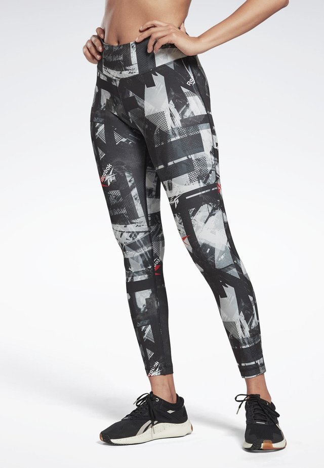 WORKOUT READY MYT PRINTED LEGGINGS - Legginsy - black