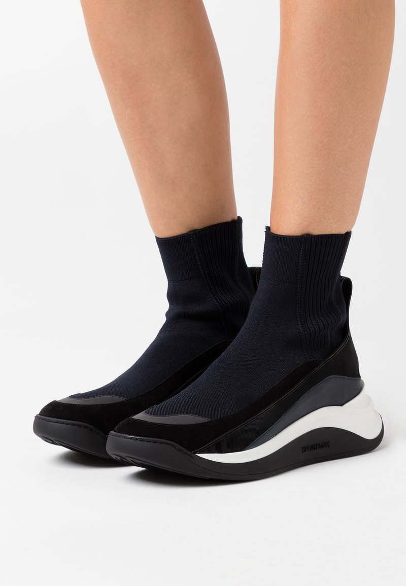Sportmax - FRISIA - High-top trainers - blu notte