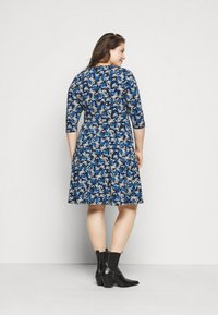 Dorothy Perkins Curve - CURVE LONG SLEEVE DITSY PRINT FIT AND FLARE  - Day dress - navy - 2