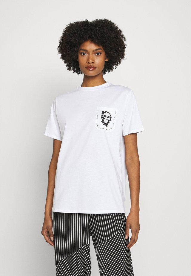 IKONIK GRAFFITI POCKET TEE - Print T-shirt - white