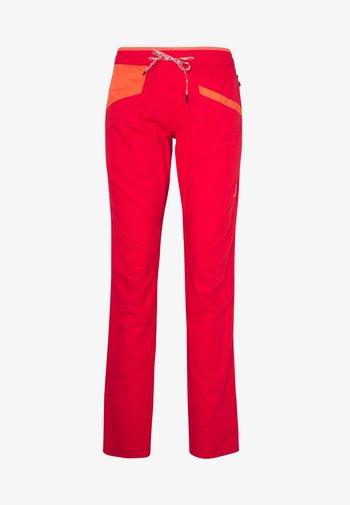 TEMPLE PANT - Pantaloni - hibiscus/flamingo