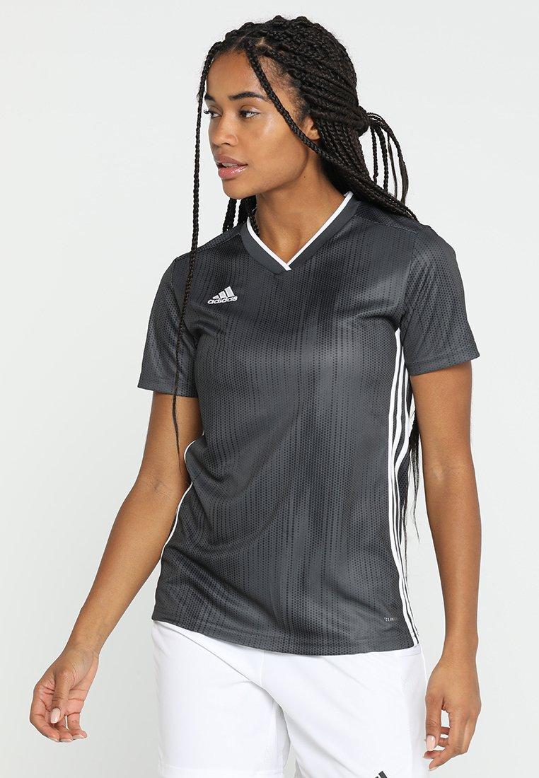 adidas Performance - TIRO 19 CLIMALITE PRIMEGREEN JERSEY - Camiseta estampada - grey/white