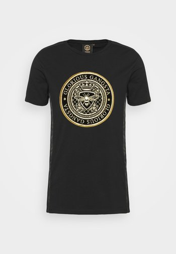 DONAEO TEE - T-shirt con stampa - jet black