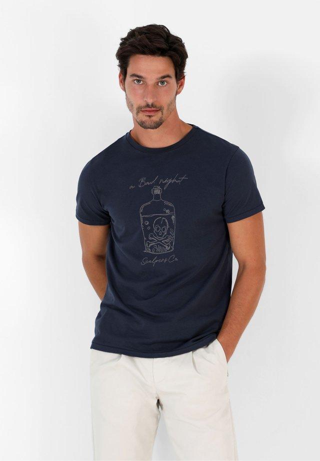 STITCH  - T-shirt con stampa - navy