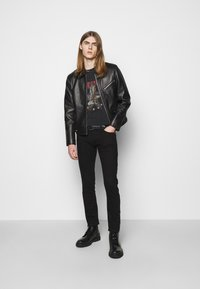 The Kooples - BIKER JACKET - Kurtka skórzana - black - 1