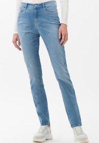 BRAX - STYLE CAROLA - Slim fit jeans - light blue - 0