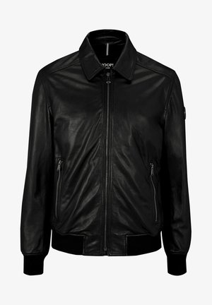 FRANJO - Leather jacket - black