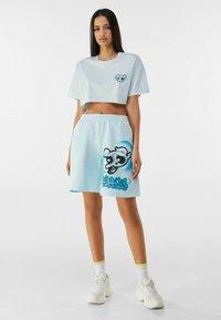 Bershka - POWERPUFF GIRLS - Shorts - light blue - 1