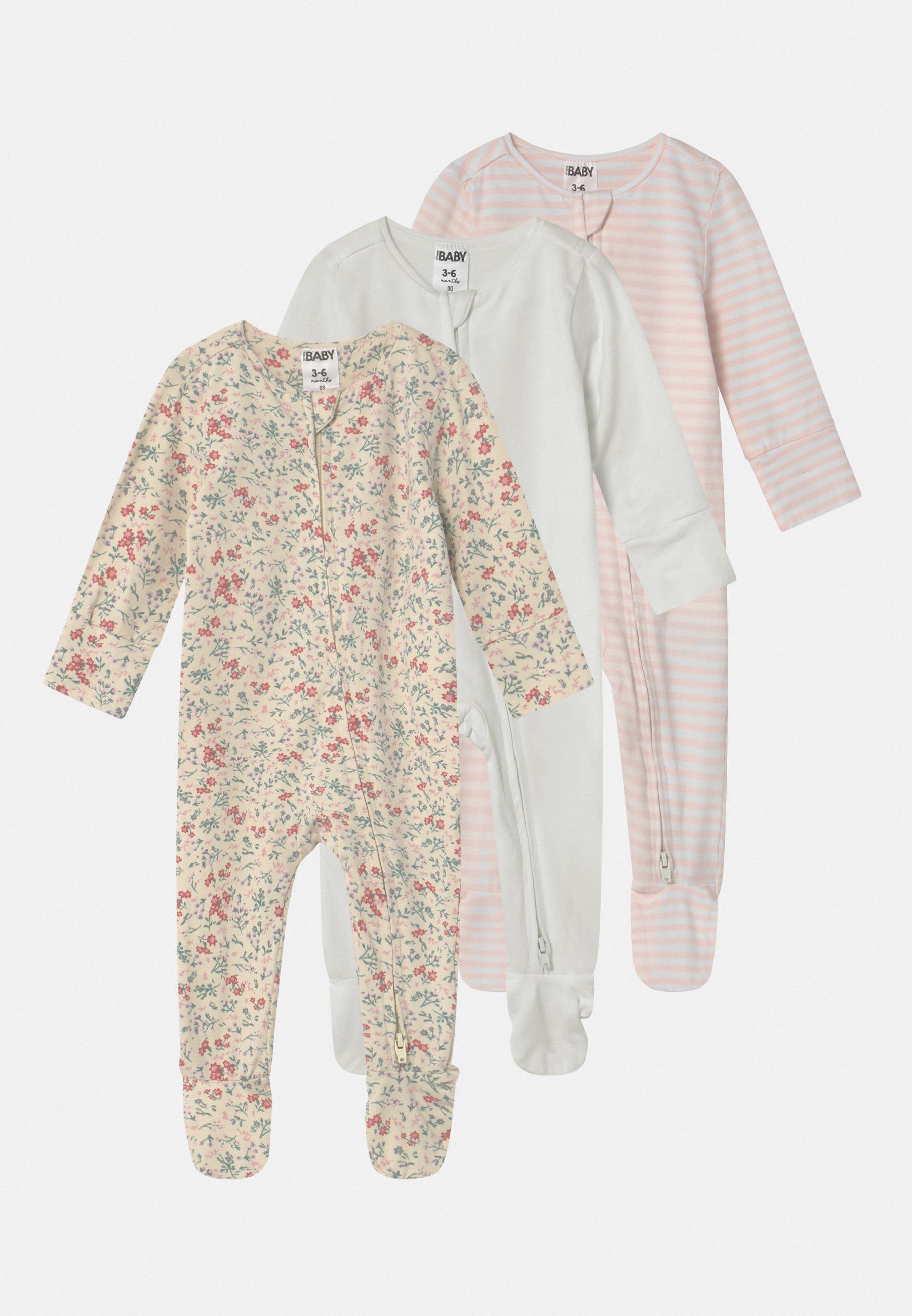 Kids LONG SLEEVE ZIP 3 PACK - Sleep suit