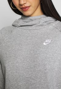 Nike Sportswear - Felpa con cappuccio - grey heather/white - 4