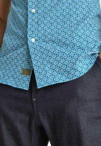 G-Star - DRESSED SUPER SLIM - Skjorta - light royal blue micro objects - 3