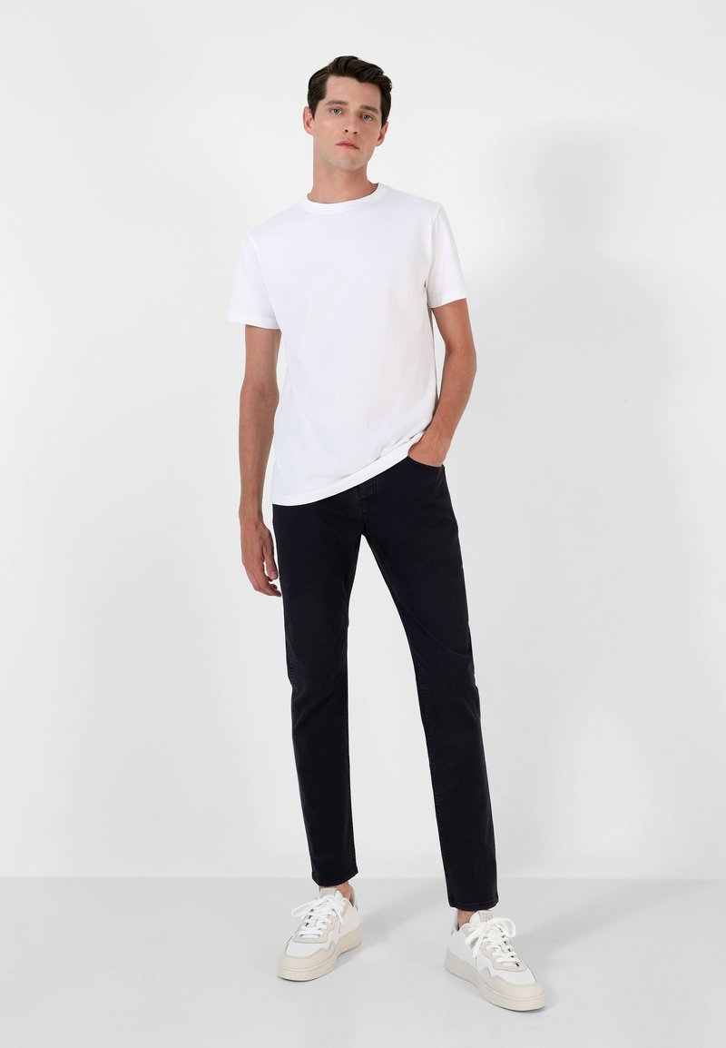 Scalpers - FIVE POCKETS PANTS - Trousers - navy