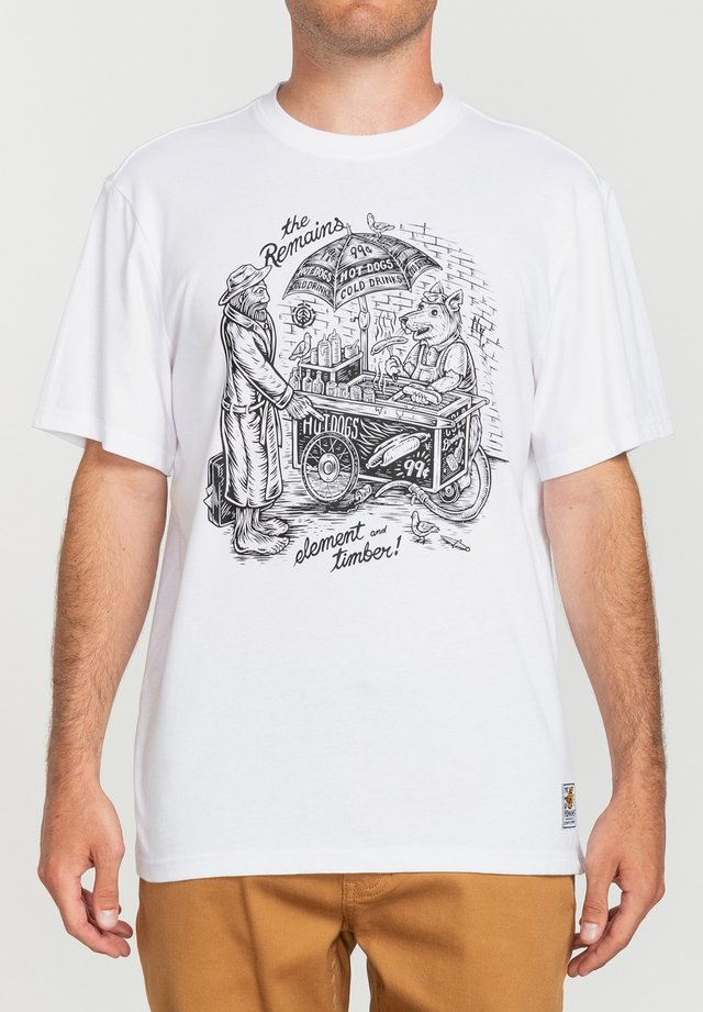 T-shirt imprimé - optic white