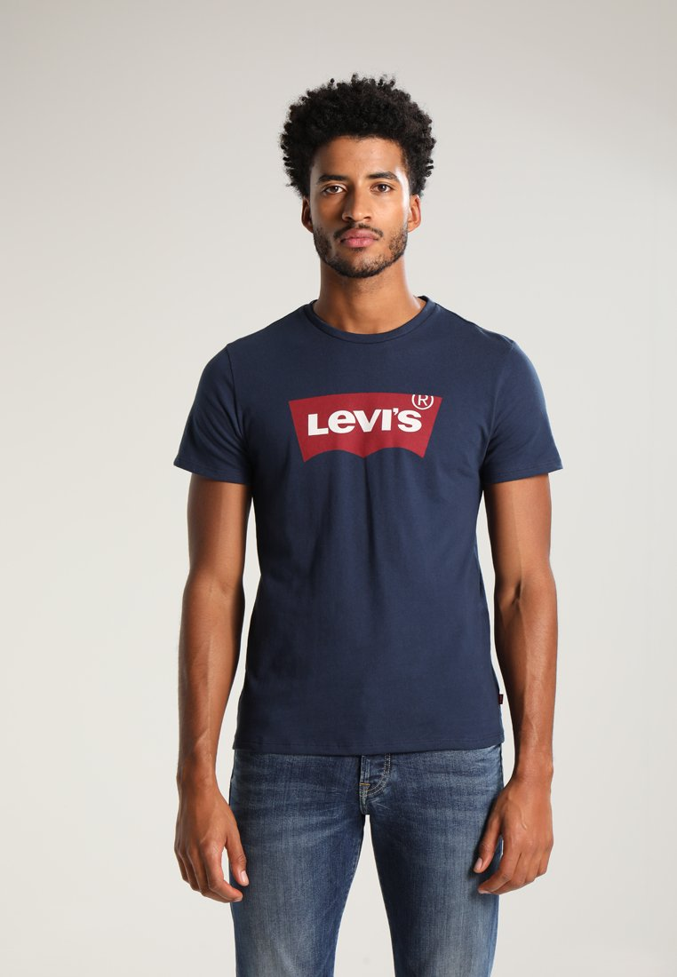 Levi's® GRAPHIC SET-IN NECK - T-shirt z nadrukiem - graphic dress blues - Odzież męska Tani