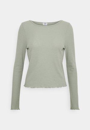 CREW NECK LONG SLEEVE - Long sleeved top - sage