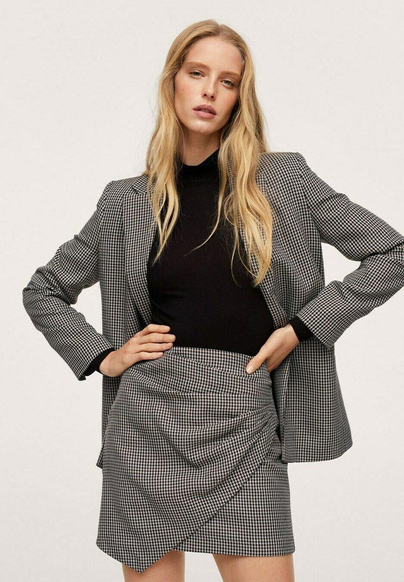 Mango - ADELE - Wrap skirt - schwarz