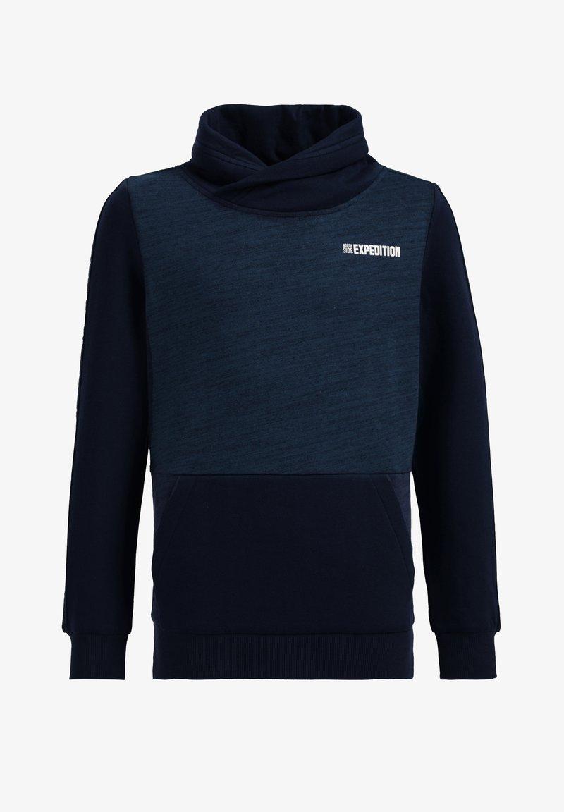 WE Fashion - MET TAPEDETAIL - Sweatshirt - dark blue