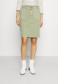 Esprit - SKIRT - Spódnica mini - khaki - 0