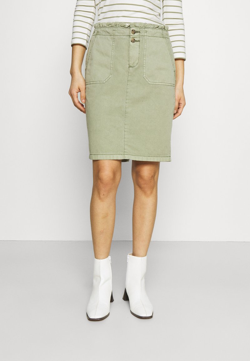 Esprit - SKIRT - Spódnica mini - khaki