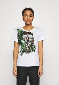 Marc Cain - Print T-shirt - khaki - 0