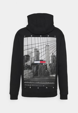 TONAL PHOTOPRINT HOODIE UNISEX - Sweat à capuche - black