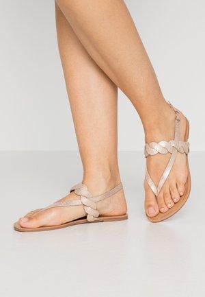 T-bar sandals - rose-gold