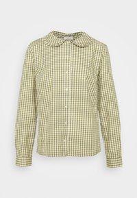 Marc O'Polo DENIM - BLOUSE FRILL DETAIL AT COLLAR - Button-down blouse - multi/fresh herb - 0