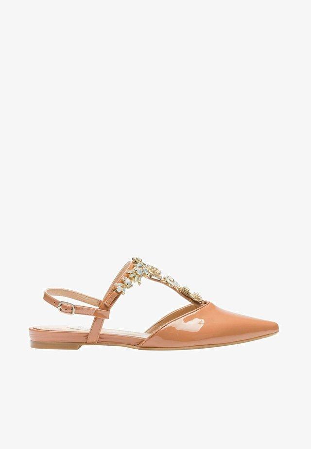 TERRA - T-bar sandals - terra