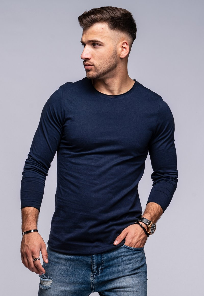 Jack & Jones - INFINITY  - Long sleeved top - navy blazer