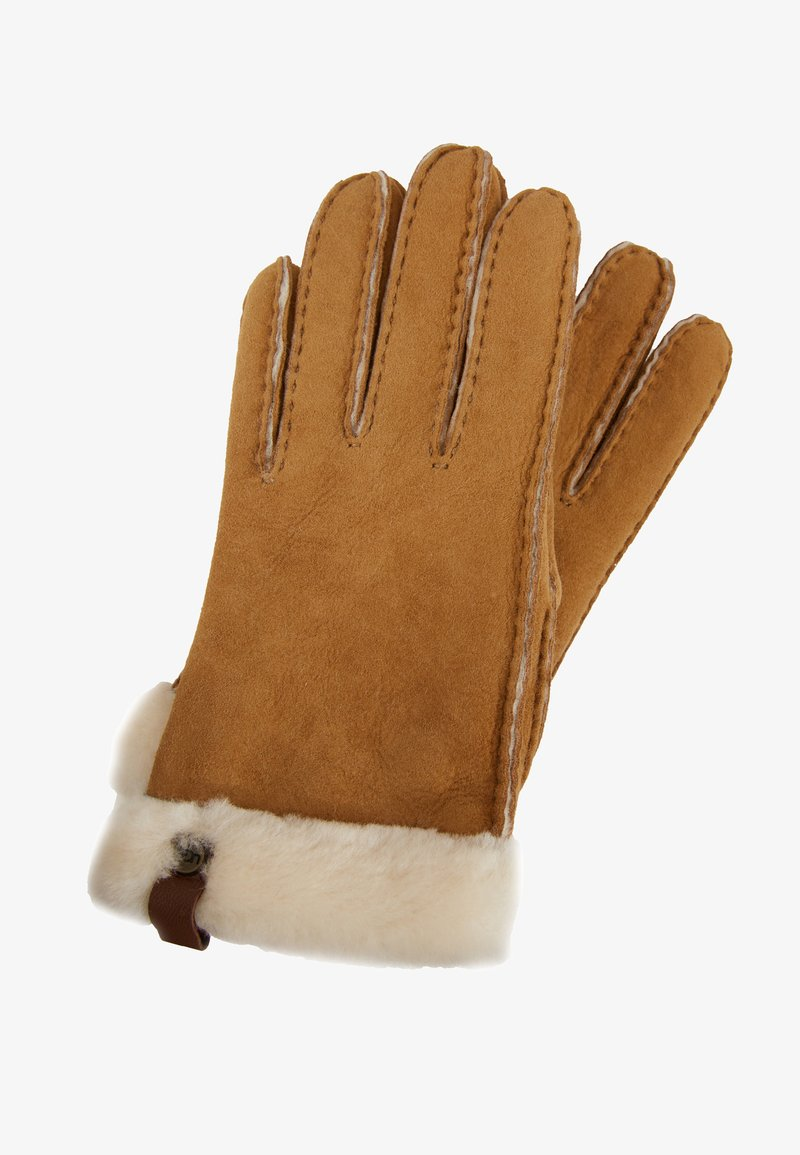 UGG - SHORTY GLOVE TRIM - Gloves - chestnut