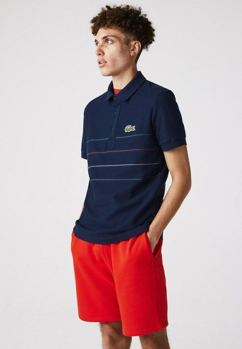 Lacoste - KORTE MOUW - Polo shirt - blau rot weiß