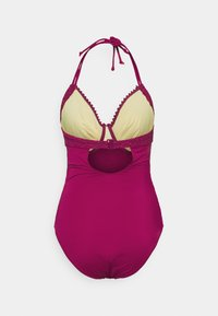 Pour Moi - CASTAWAY ADJUSTABLE HALTER UNDERWIRED SUIT - Swimsuit - sangria - 1
