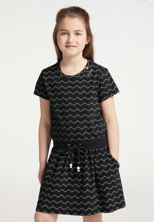 MAGY CHEVRON - Day dress - black