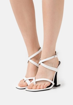 WIDE FIT JONAS - Sandals - white