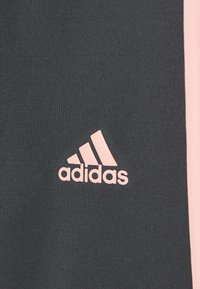 adidas Performance - TRAINING EQUIPMENT 3 STREIFEN - Leggings - grey six/coral - 3
