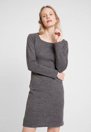 KASOFIA DRESS - Shift dress - dark grey melange