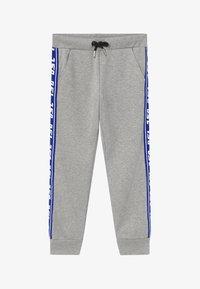 Diesel - Teplákové kalhoty - grey melange base contrast blue - 2