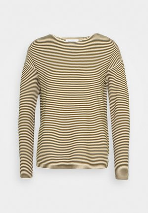 LONG SLEEVE CREW NECK - Jumper - multi/washed pea