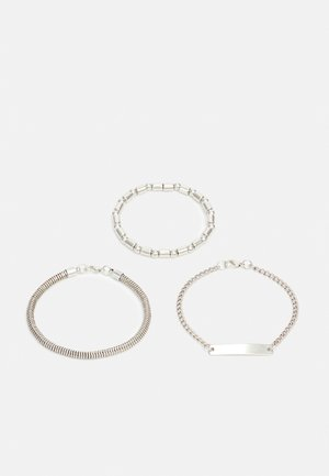 UNISEX 3 PACK - Armband - silver-coloured