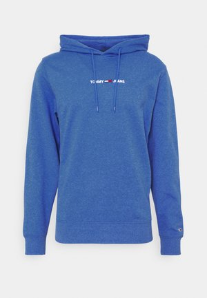 STRAIGHT LOGO HOODIE - Sweatshirt - liberty blue htr