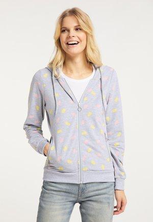 Sweater met rits - hellgrau