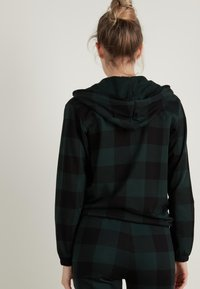 Tezenis - Zip-up hoodie - schwarz - black/pine green tartan check - 1