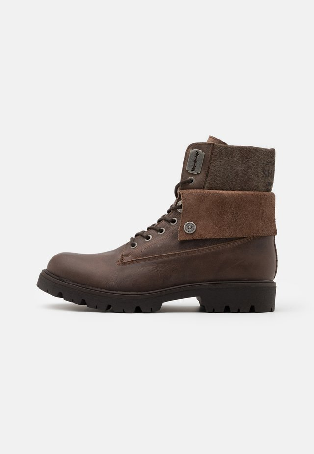 HEATH LACE UP BOOT - Veterboots - brown