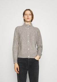 Bruuns Bazaar - AISHA EMILY CARDIGAN - Cardigan - light grey - 0